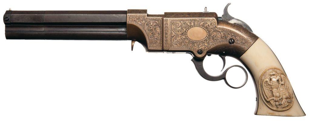 Оружейные системы XIX столетия: магазинный пистолет «Волканик»