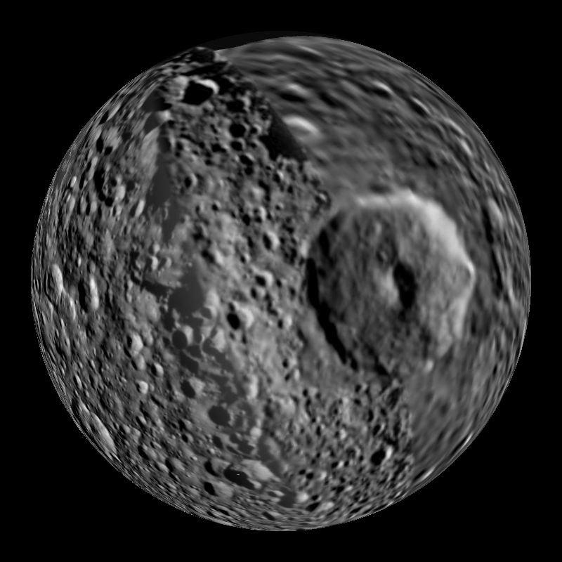 Мимас: «Звезда Смерти» на орбите Сатурна