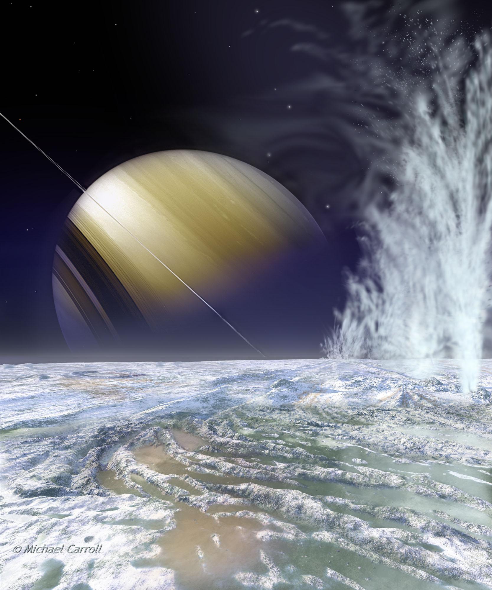 Энцелад: Маленькая луна с подлёдным и, возможно, обитаемым морем