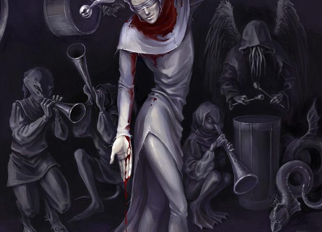 Серый шут (художник Марухана Бачи)